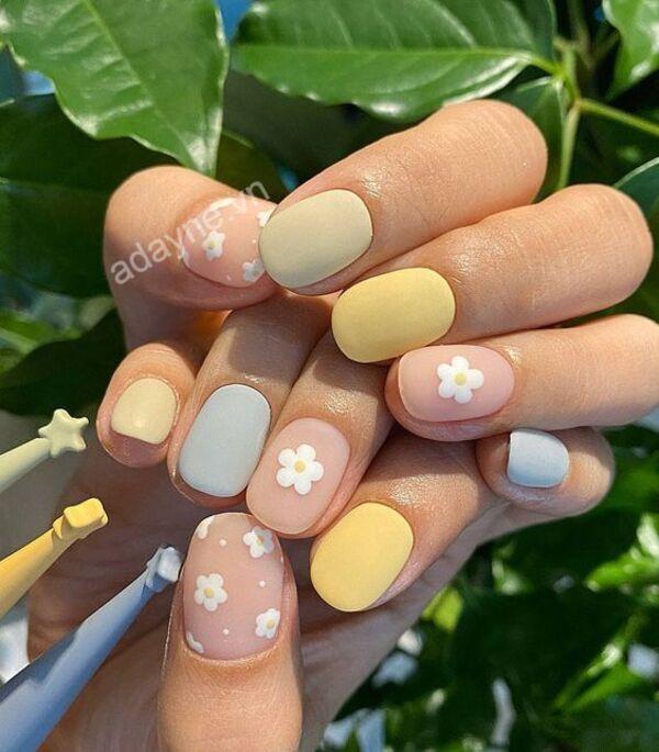 Bắt trend mẫu nail đẹp đơn giản Hàn Quốc xinh xắn, đáng yêu