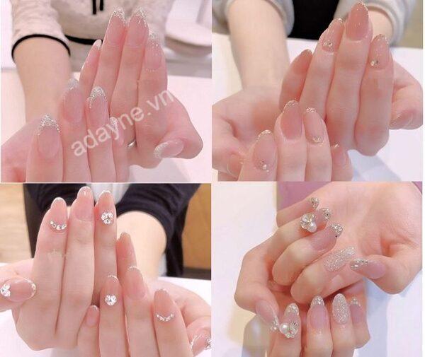 Mẫu nail đẹp đơn giản siêu hot dành riêng cho cô dâu