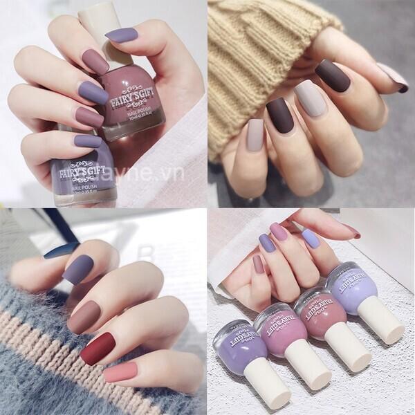 Những mẫu nail đơn giản sang trọng phối nhiều màu siêu đẹp