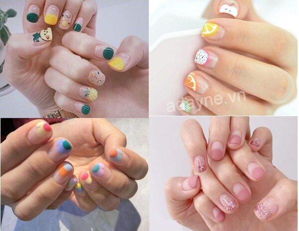 Những mẫu nail nhẹ nhàng đi học dễ thương, cute hết nấc