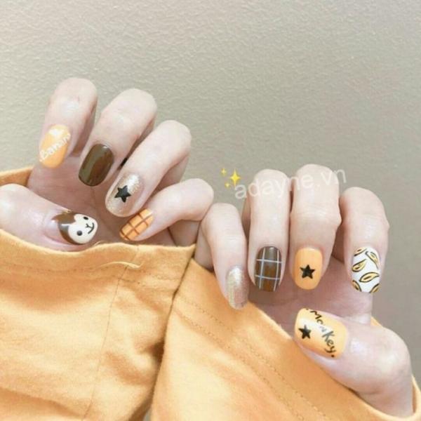 Mẫu nail nhẹ nhàng đi học kiểu dáng tươi tắn, đáng yêu