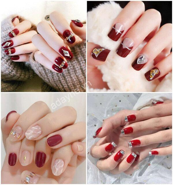 Màu nail tôn da màu đỏ phù hợp với mọi loại da