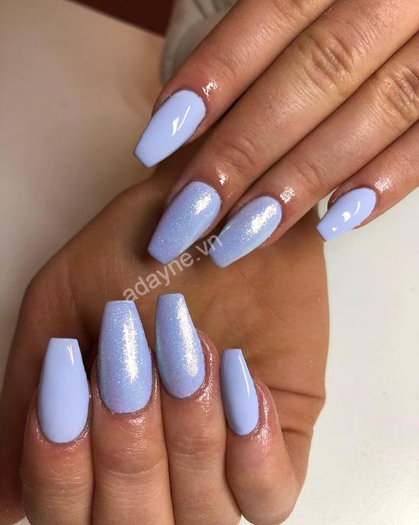 Mẫu nail tôn da tone tím pastel xinh đẹp mộng mơ