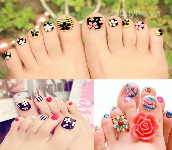 Mẫu nail vẽ hoa đơn giản cho nàng bộ móng dễ thương, bắt kịp xu hướng