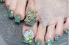 """99+ mẫu móng chân đẹp màu xanh rêu """"cân"""" mọi loại da, được phái nữ săn đón"""