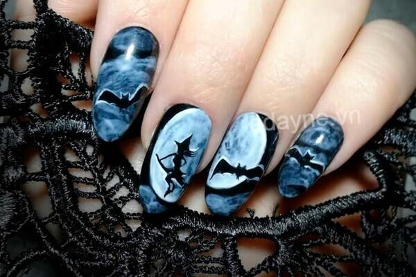 Nail xinh Halloween nghệ thuật
