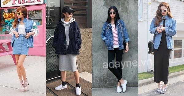 Áo khoác jeans thuộc kiểu items unisex, chính vì thế cả nàng có thể tự tin phối đồ áo khoác jean nữ theo phong cách riêng của mình