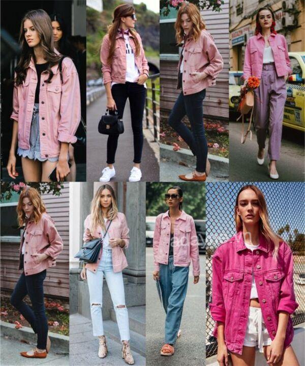 Ngọt ngào, nữ tính mà vẫn cực nổi bật với kiểu áo khoác jean màu hồng lạ mắt
