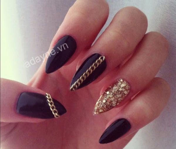 Sang chảnh mẫu nail đẹp tone đen huyền bí, phá cách, cá tính