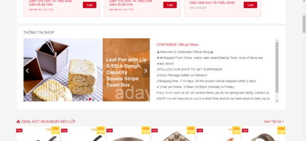 CHEFMADE Official Store – Top shop bán dụng cụ làm bánh trên shopee đẹp.