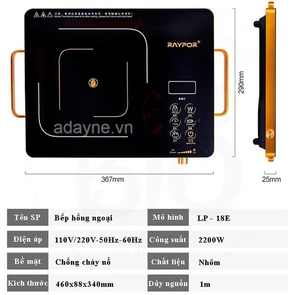 RayPor BIO-93A là loại bếp hồng ngoại không kén nồi, có mức giá rẻ, phù hợp với học sinh, sinh viên hoặc những người ở trọ