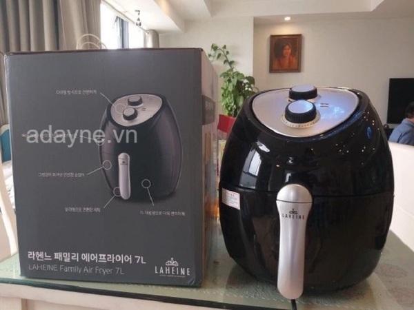Nồi chiên không dầu 7 lít của Hàn Quốc Laheine sẽ là giải pháp tuyệt vời rút ngắn thời gian nấu nướng
