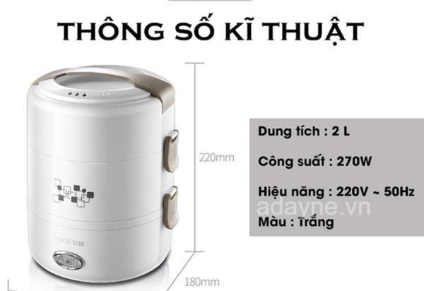 Nồi cơm điện mini đa năng AS2020 chất liệu inox siêu bền, giữ nhiệt tốt
