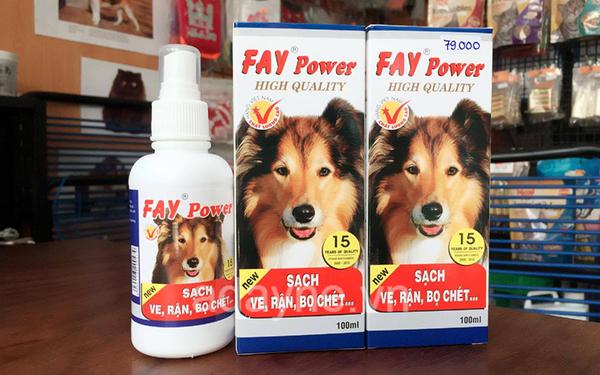 các loại thuốc trị ve chó - Thuốc xịt ve rận bọ chét Fay Power